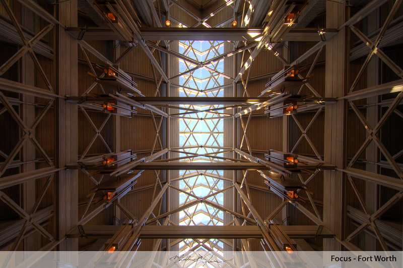 Ceiling at Marty Leonard Chapel, Lena Pope Home