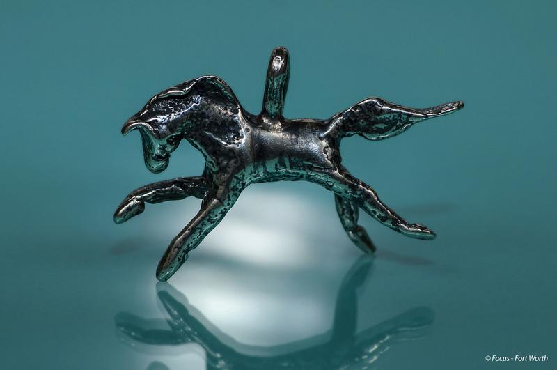Handmade sterling silver horse charm
