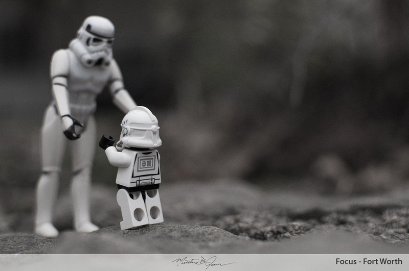 Old stormtrooper with Lego stormtrooper
