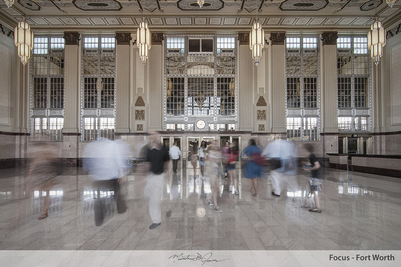 Architecture, Downtown Fort Worth, Fort Worth, Fort Worth Train station, Moving people, People moving, People passing, T&P Station, T&P Station Lobby, Train, Train station