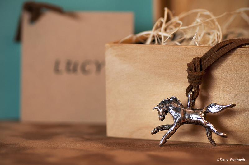 Horse charm and wooden box